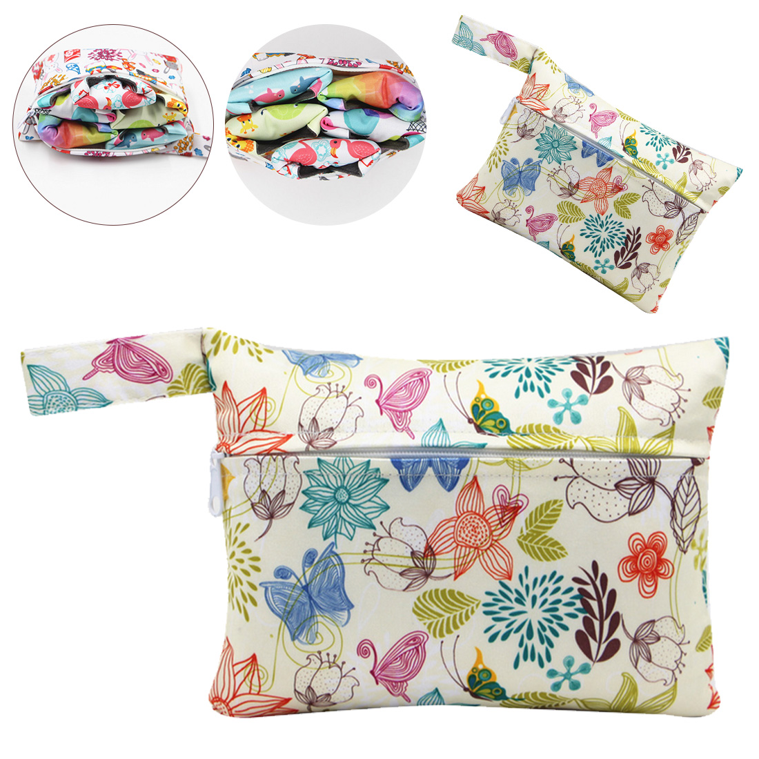 Mini Wet Bag Waterproof Maternity Bag For Menstrual Pads Breast Pad Nursing Pad Reusable Snack Bags 18*14cm