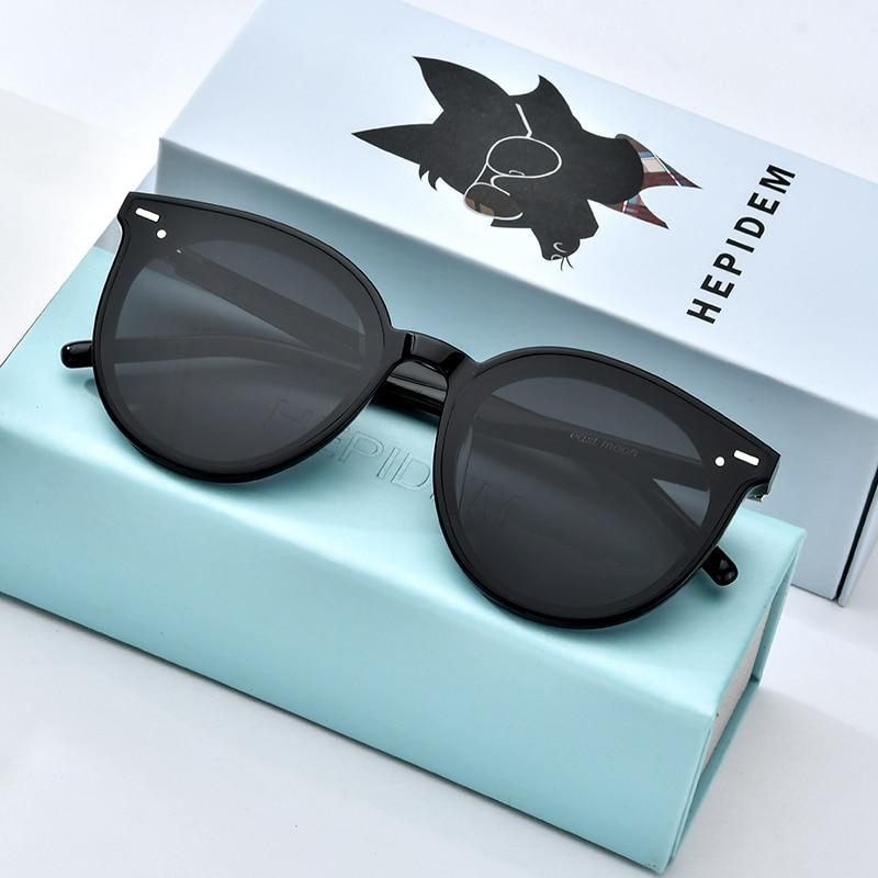 HEPIDEM Acetate Sunglasses Men Fashion Brand Designer Retro Circle Sun Glass for Women Vintage Round Mirrored UV400 Shades East(China)