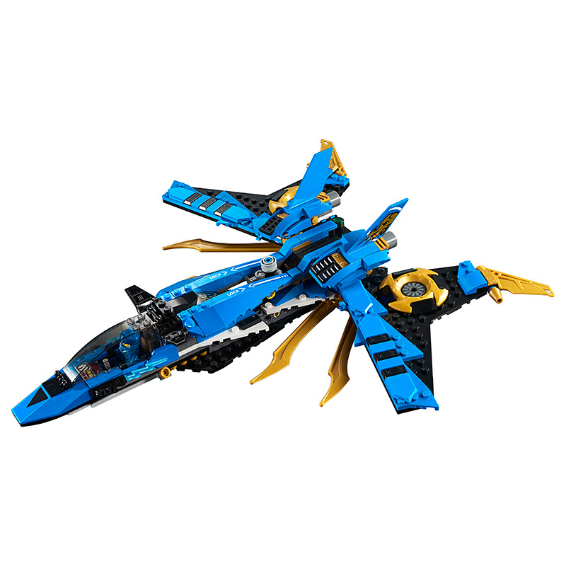 2019 New Products LEGO Lego <font><b>70668</b></font> <font><b>Ninjago</b></font> Jay's Storm Fighter Plane Assembled Building Blocks Toy image