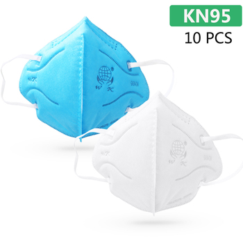 10pcs KN95 Masks Protective Fold Face Mask Anti-dust Bacterial Proof Filter Cover PPE Labor Protection Safety Respirator