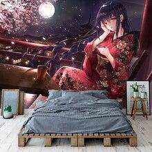 Piękna Sakura dziewczyna tapety niestandardowe tapety 3D japońskie anime fototapeta Mural dziewczyny dziecko sypialnia Cosplay Cartoon