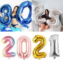 Globos de cumpleaños de lámina grande de 32 y 40 pulgadas, Globos con número de helio, adornos para fiesta de cumpleaños, figuras de juguete para niños, Globos de aire de boda