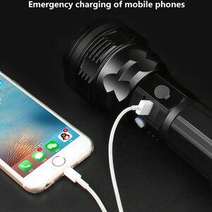 Image 5 - Chiến Thuật Đèn Pin CREE XHP70.2 Sạc Dài Bắn 4200 Lumens 8000 MAh Pin Lithium Dung Lượng Lớn Mạnh Đèn Pin LED