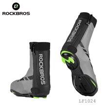 ROCKBROS yol bisiklet ayakkabı kapakları bisiklet su geçirmez ve rüzgar geçirmez galoş MTB kış bisiklet yansıtıcı kumaş ayak örtüsü