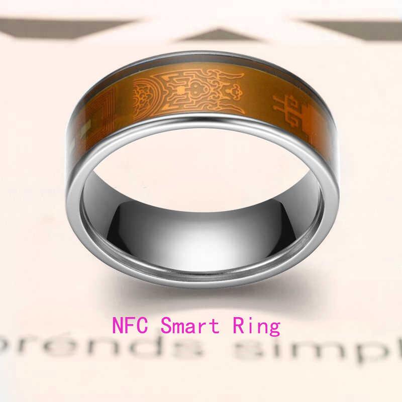 Anel inteligente impermeável multifuncional do uso esperto mágico do anel esperto de nfc para todos os celulares de android e de windows nfc. tamanho