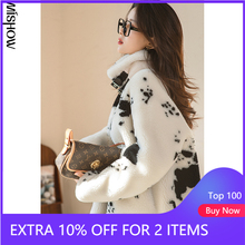 Winter Jackets Coats MISHOW Female Warm Casual Fashion Women for Cow-Pattern Outdoor