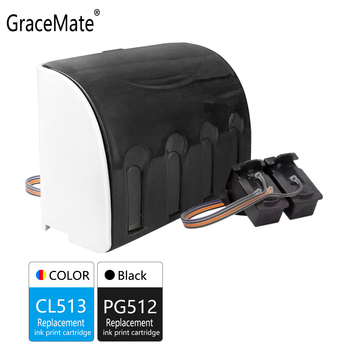 GraceMate Replacement for Canon PG512 CL513 CISS Bulk Ink Cartridge for Pixma MP330 MX320 MX330 MX340 MX350 MX410 MX420 Printer