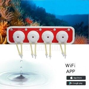 Jebao Auto DOSER 3.4 2.4 Aquarium DOSING PUMP Reef Coral Intelligent WiFi Peristaltic metering Machine w/ 4 Channels Android IOS