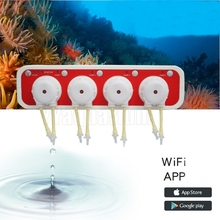 Jebao Auto DOSER 3.4 Aquarium DOSING PUMP Reef Coral Intelligent WiFi Peristaltic metering Machine with 4 Channels Android IOS стоимость