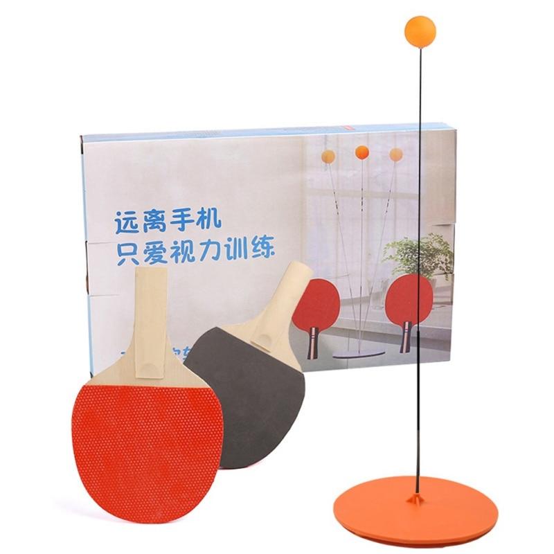 Kid Adult Elastic Soft Shaft Table Tennis Trainer Elastic Rod Training Ball Leisure Decompression Sports Tool(base Random Color)