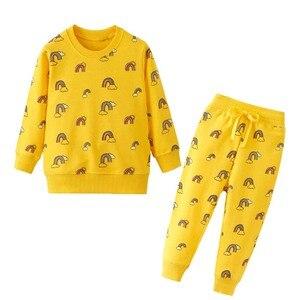 Image 3 - Nova menina roupas de inverno conjuntos da criança manga longa traje terno crianças conjuntos minne