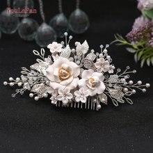 Youlapan свадебные заколки для волос Стразы Свадебный гребень