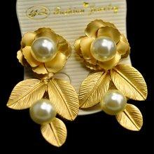 Барокко серьги с цветочным принтом в винтажном стиле Стиль украшенный