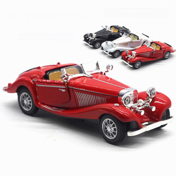 1:28 Children Alloy Pull Back Car Toys Retro Convertible Car Diecasts Toys Vehicles Models Collection Simulation Model TY0558