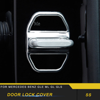 For Mercedes Benz GLE ML GL GLS Auto Car Door Lock Protective Cover Trim Sticker Frame Chrome Accessories