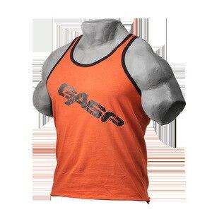 Мужской летний спортивный жилет Gasp muscle fitness brother, индивидуальный тренировочный светильник на заказ Amazon Express