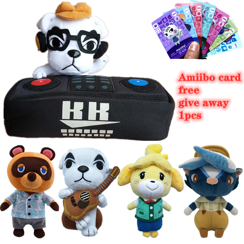 20cm-45cm Animal Crossing Plush Toy Give Away Amiibo Card Jingjiang Doll KK Toys Plush Pillow Children's Gifts