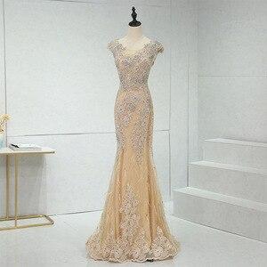 Evening Dress 2020 New Mrs Win Luxury Party Formal Evening Dresses Elegant Mermaid Dress Vintage Robe De Soiree Custom Size