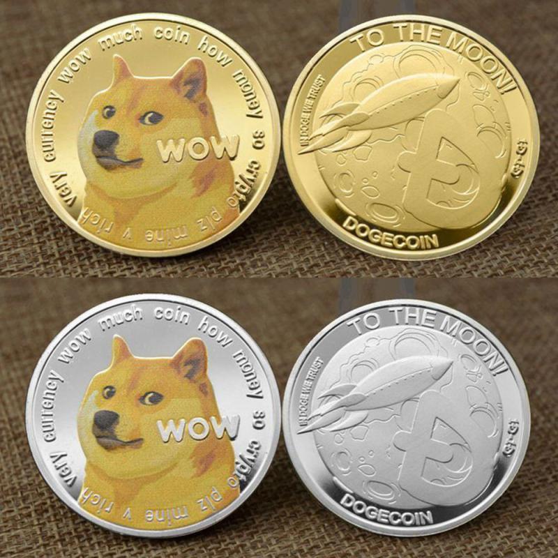 Золото дожкойн монеты памятные 2021 Новый коллекционеров Позолоченные Doge монета Non-монеты иностранных валют Украшения домашний декор