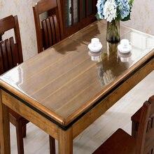 100*200cm toalha de mesa transparente do pvc toalha de mesa de óleo impermeável toalha de mesa plástica de cristal pano macio de vidro 1.0mm