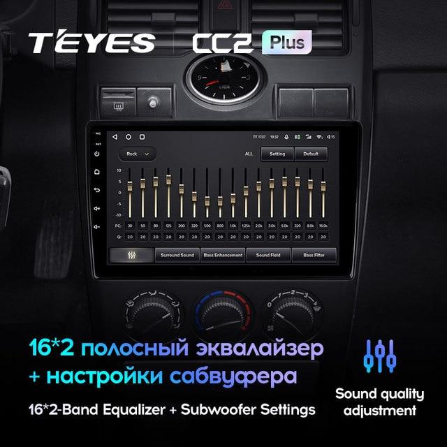 TEYES CC2L и CC2 Plus Штатная магнитола For Лада Приора 1 For LADA Priora I 1 2007 - 2013 Android до 8-ЯДЕР до 6 + 128ГБ 16*2EQ + DSP 2DIN автомагнитола 2 DIN DVD GPS мультимедиа автомобиля головное устройство 3