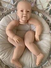 Popular 28 polegadas bebê face reborn boneca kit katie toque real macio fresco cor unpainted inacabado diy boneca peças da criança presentes