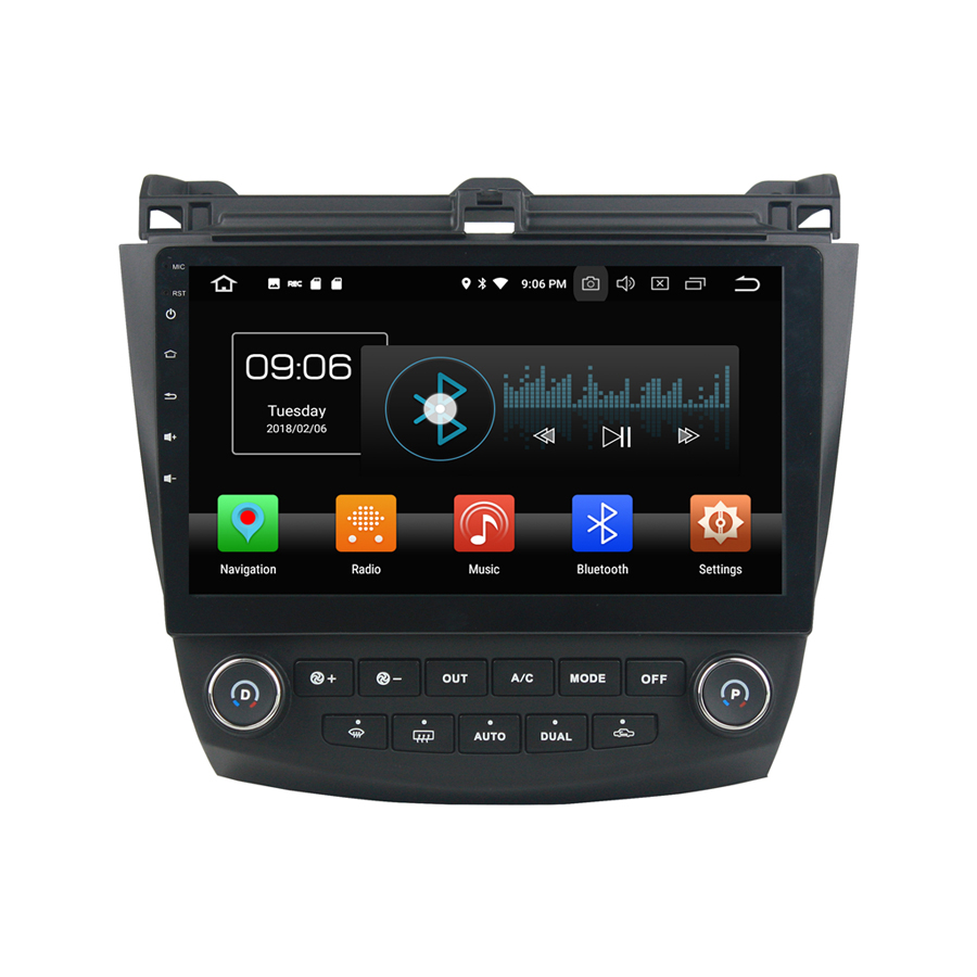 PX6 Excellent Performance Android 9.0 Car Multimedia <font><b>GPS</b></font> <font><b>For</b></font> <font><b>HONDA</b></font> <font><b>Accord</b></font> 7 2003-2007 DSP Sound Navigation Tape Recorder Radio image