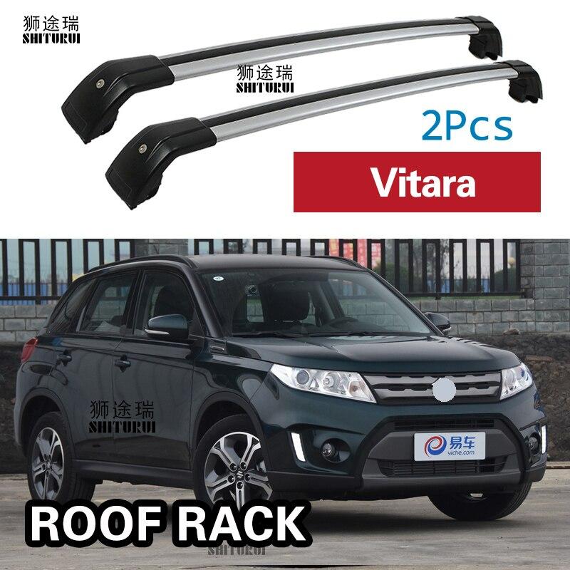 2Pcs Roof Bars For Suzuki Vitara 2015 2016 2017 2018 2019 Aluminum Alloy Side Bars Cross Rails Roof Rack Luggage Carrier