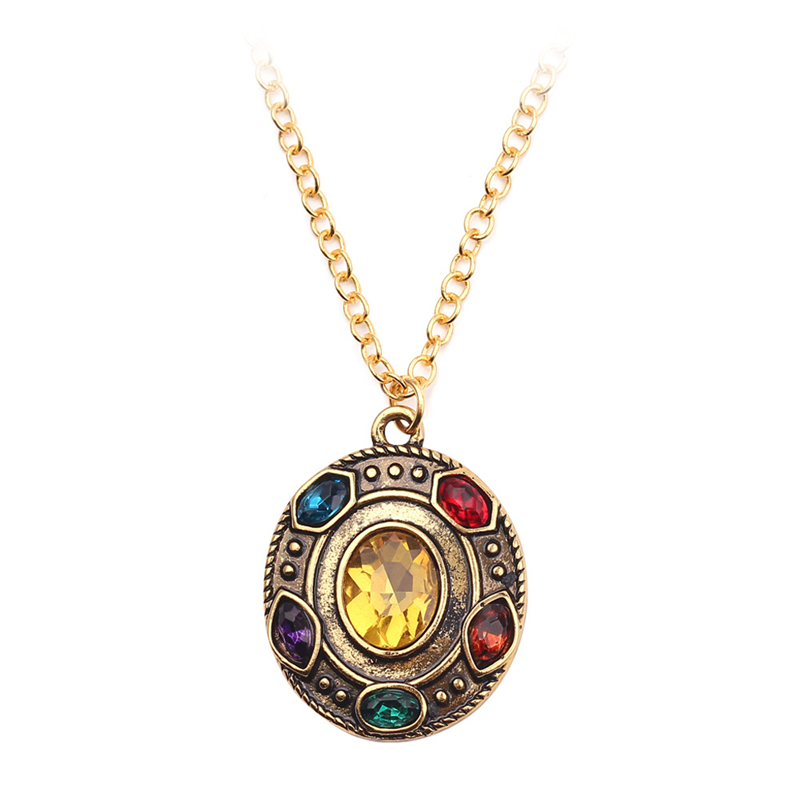 Thanos Surrounding Pendant Cosplay Character Props Extermination Necklace Super Hero Pendant Accessory Adult Men And Women