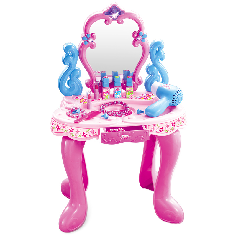 Children's Dressing Table, Toys, Girls, Multifunctional Princess Cosmetic Box, Electric Hair Dryer