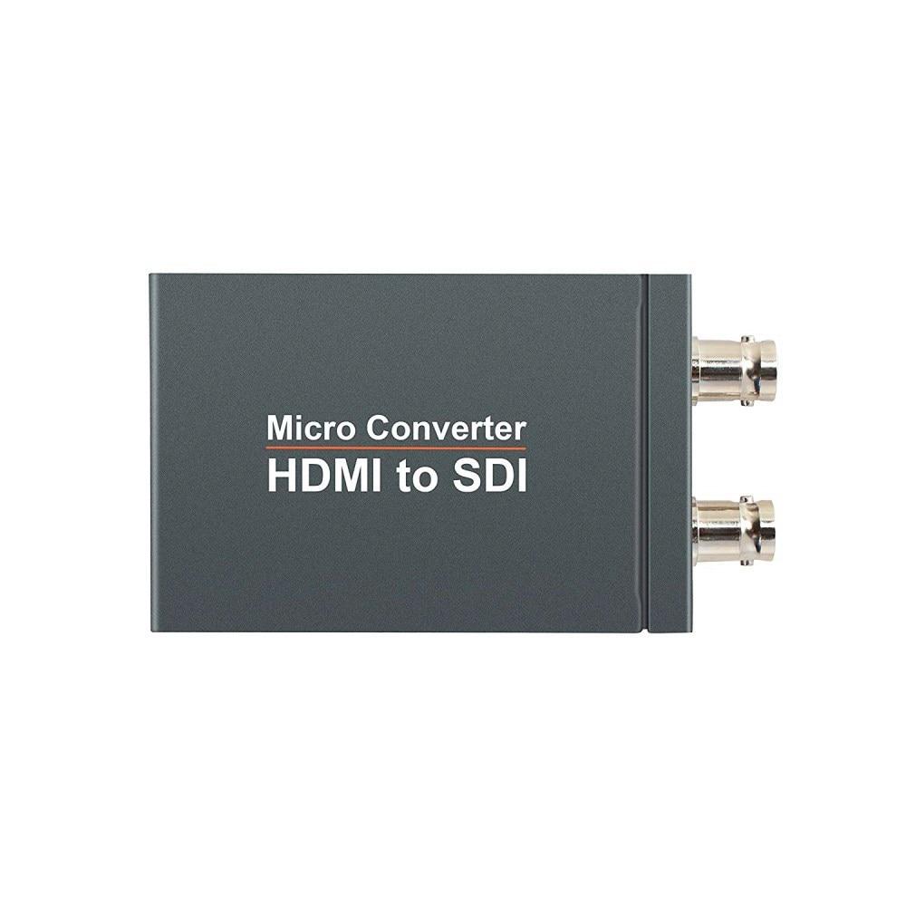 SDI To HDMI / HDMI To SDI With Power Mini 3G HD SD-SDI Video Micro Converter Adapter With Audio Auto Format Detection For Camera