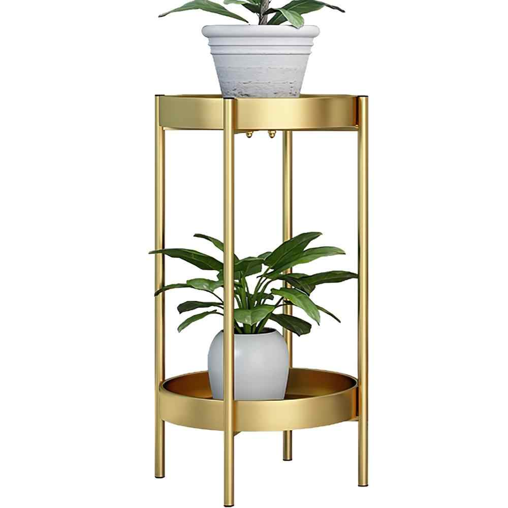 Tray Metal Plant Stand Round Flower Pot