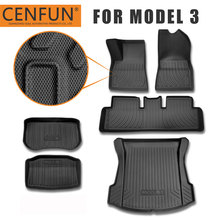 Floor Mats and Trunk Mats Customized for Tesla Model 3 All Weather 4D Multi Layer Custom Laser Non Slip