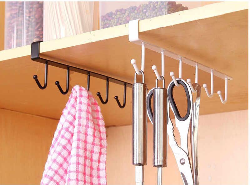 1 Pc Iron Keuken Opslag Rack Hanger Holder Cup Board Opknoping Haak Hanger Organizer Thuis Multifunctionele Handdoek Magazijnstelling