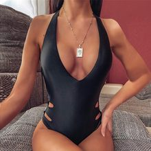 One Piece Swimsuit women Halter Push Up Monokini Bikini Set Sexy Brazilian Bathing Suits Beachwear 2020 Bodysuit Swimming Suit #(China)