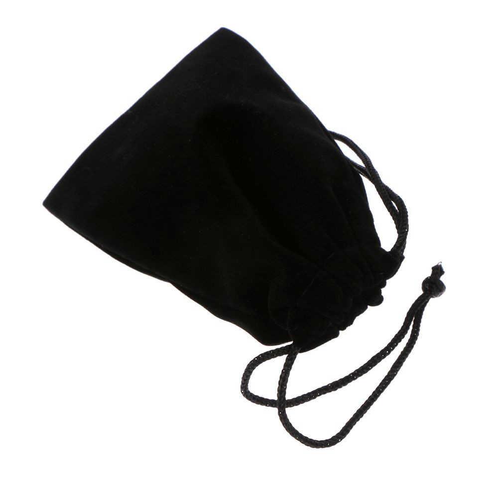 Moda negro de doble cara flocado bolsitas de terciopelo con cordón joyería regalo viaje portátil bolsas de almacenamiento envío gratuito