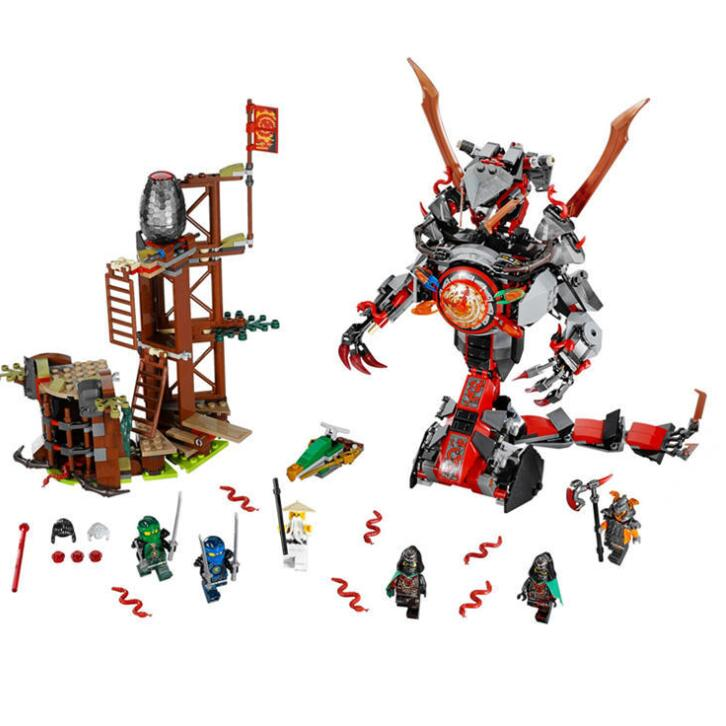 <font><b>Legoinglys</b></font> Ninja Assembled Building Blocks <font><b>70626</b></font> Ninjago Hands of Time Mega Snake Bricks Educational Toy Children Birthday Gift image