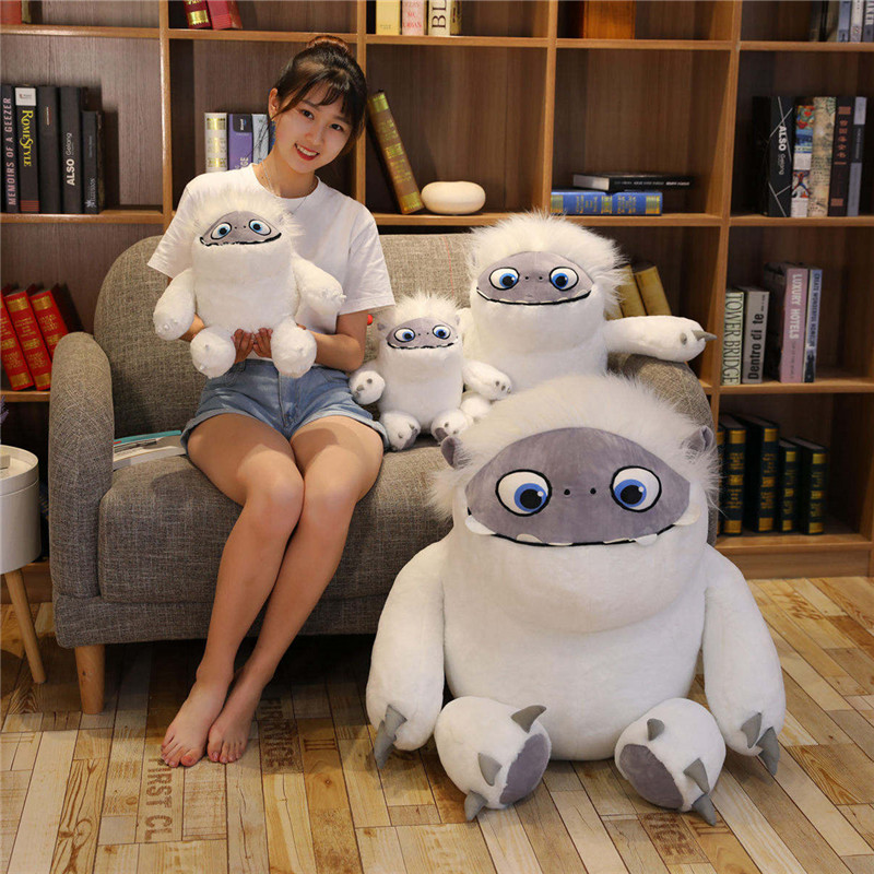 35-90cm Big Size Movie Abominable Snowman Plush Toys For Children Doll Pillow Cushion Soft Stuffed Christmas Gift For Kids Girls