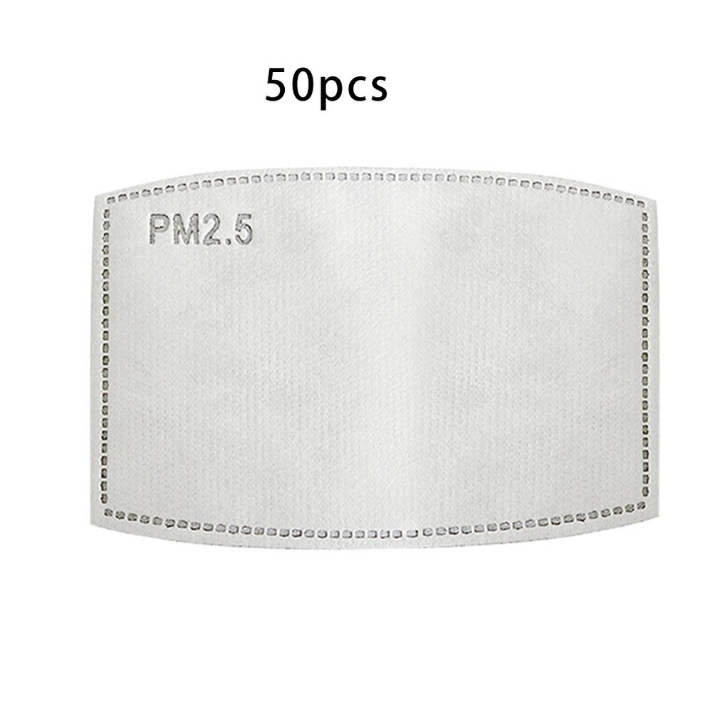 Mask Filter Anti-Fog And Dust-Proof Activated Carbon Filter Activated Carbon Pm2.5 Filter Anti-Pm 2.5 Allergies 50 Pcs