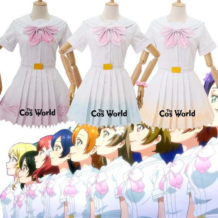 Love Live μ's 8th A Song For You 9 Characters Kousaka Honoka Minami Kotori Sonoda Umi Ayase Eli Dress Uniform Cosplay Costumes
