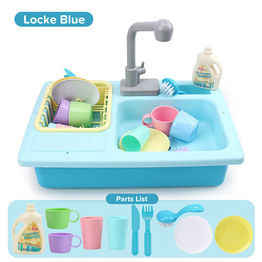 Kids Plastic Simulation Electric Dishwasher Sink Children Pretend Play Kitchen Set Toys Girls Child Dolls Access  Birthday Gifts