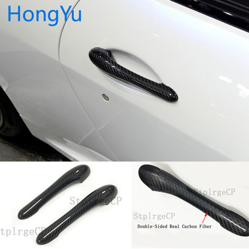 For Maserati GranTurismo S MC GT GTS Coupe 2DOOR 2008-2017 100% real carbon fiber Auto outer door handle cover image