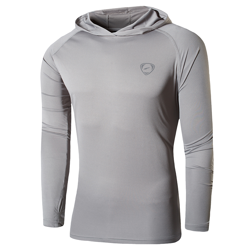 Jeansian Men's UPF 50+ UV Sun Protection Outdoor Long Sleeve Tee Shirt Tshirt T-Shirt Beach Summer LA271 LightGray2