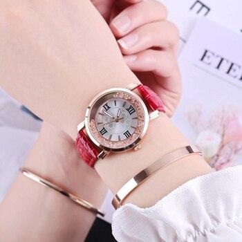 цена на Best selling Fashion Women Watches Leather Women Analog Quartz Simple Wrist Watch Clock Gift Luxury Dress Wristwatch Reloj mujer