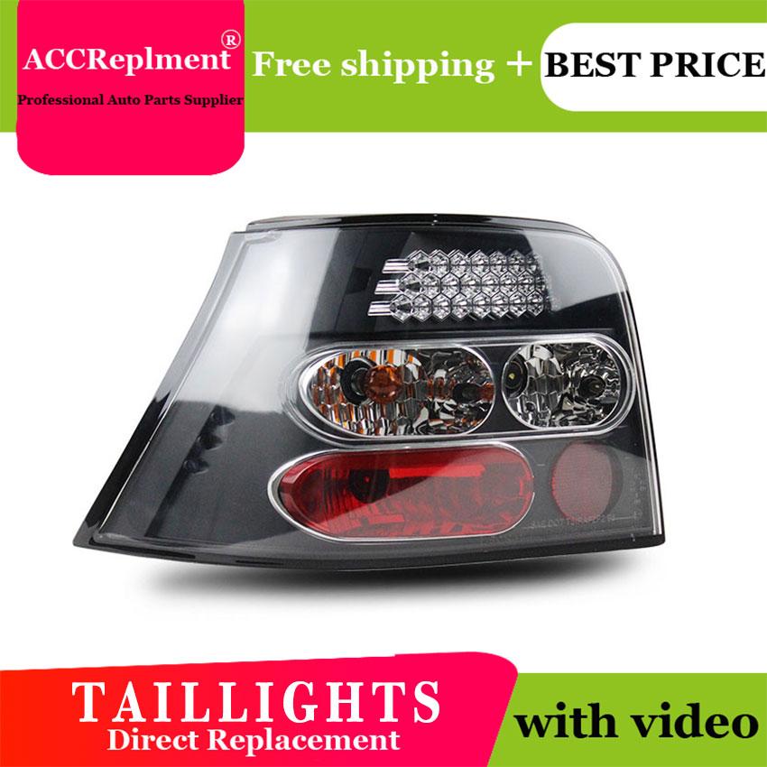 Car styling For vw golf 4 led rear lights 1998 2005 For golf mk4 led rear lamp led tail light parking
