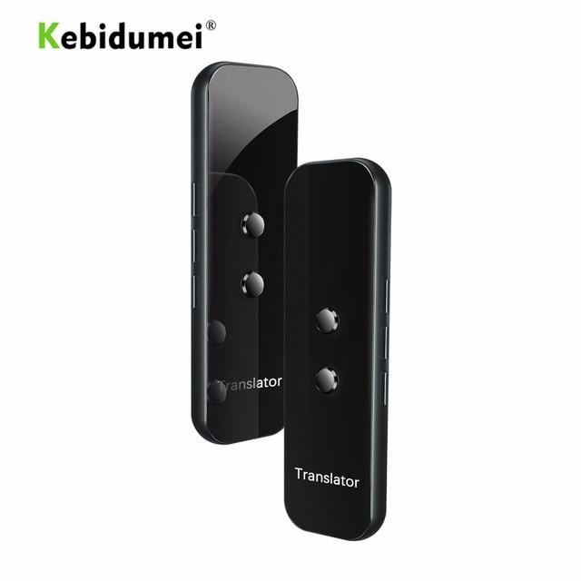 Kebidumei G6 di Smart Voice Dispositivo Traduttore Elettronico 3 In 1 Voce/Testo/Fotografiche 40 + Lingua Traduttore Per IPhone Android