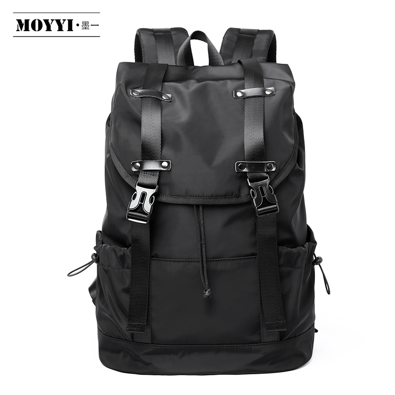 MOYYI  New Fashion Men's Backpack School Bag Men's Travel Bags Large Capacity Travel Waterproof 14 15.6 Inch Laptop Backpack