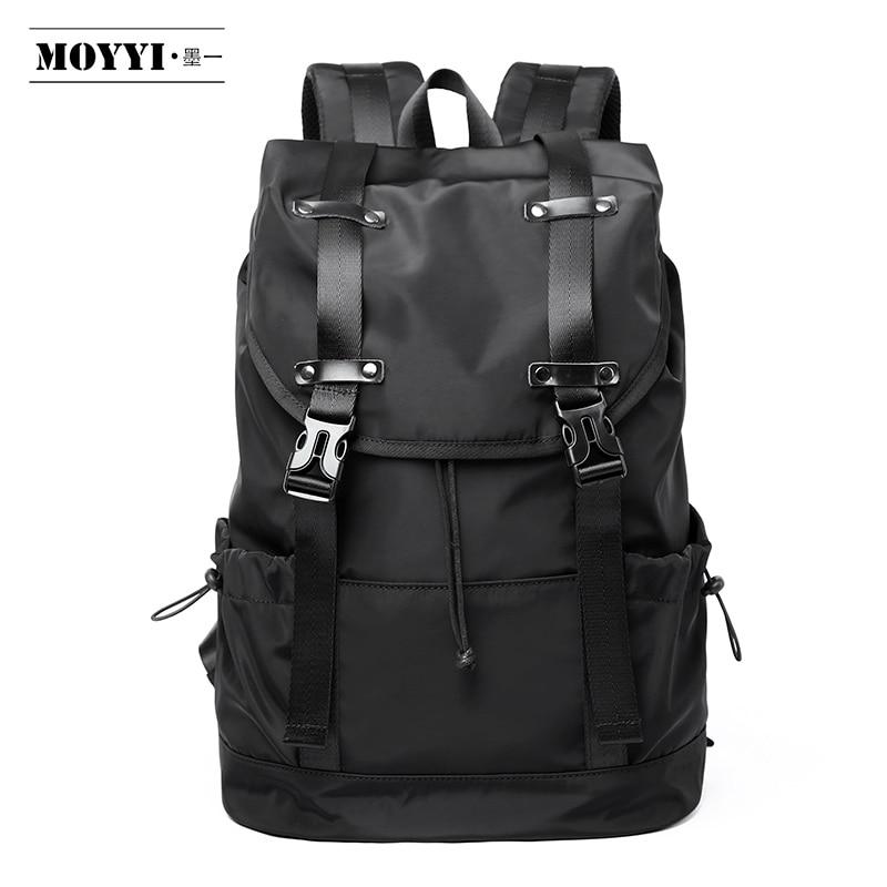 MOYYI  New Fashion Men's Backpack School Bag Men's Travel Bags Large Capacity Travel Waterproof 14 15.6 Inch Laptop Backpack