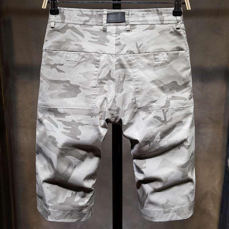 Vintage Men Shorts Casual Fashion Cotton Slim Knee Length Pant Summer Sweatpants Elastic Waist Streetwear Korean Clothing KK60ND
