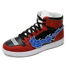 Cartoon Print Basketball Shoes Comfortable High Top Training Boots Ankle Boots Outdoor Men Sneakers Sport shoes boussac men basketball shoes for outdoor male ankle boots anti slip sport sneakers support stability mens trainers